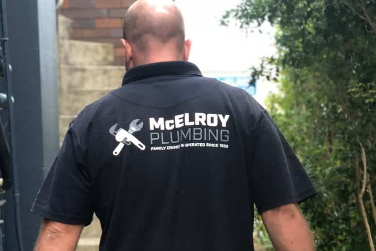 One of the McElroy Plumbing plumbers