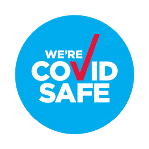 McElroy Plumbing COVID Safe badge